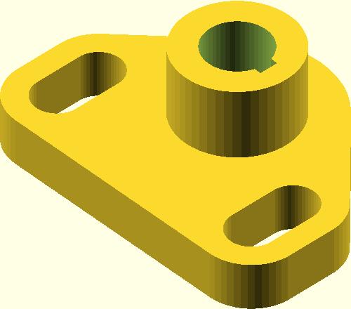 Model 3D obiektu technicznego wykonany w programie OpenSCAD