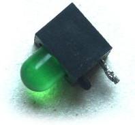 Dioda zielona z podstawką wylutowana z układu nagrywarki DVD