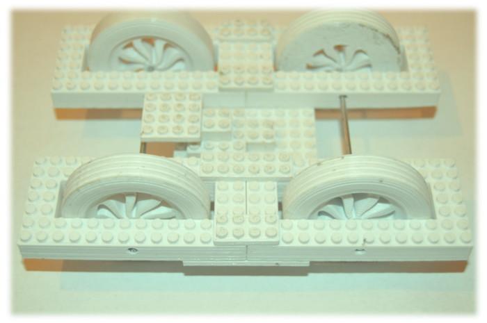 Druk 3W kół napędowych wraz z klockiem nie Lego mojego pomysłu