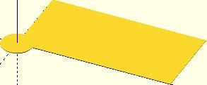 Figury płaskie (koło i prostokąt) przed wykonaniem operacji dodawania minkowskiego