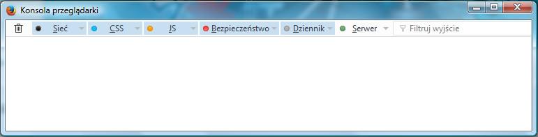 Konsola przeglądarki w programie Firefox