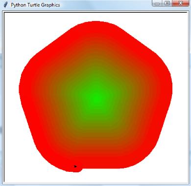 Przykład grafiki żółwia wygenerowanej w Pythonie