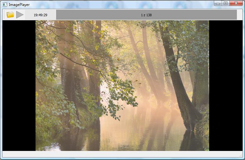 Widok programu ImagePLayer