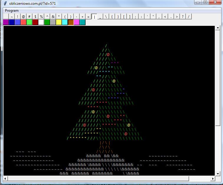 Program napisany w Pythonie 3+ do rysowania tekstem w stylu ASCII-art