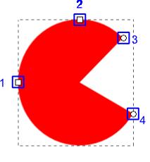 Inkscape - tryb edycji obiektów eliptycznych