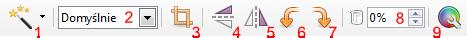 Pasek narzędziowy Obraz programu Writer pakietu LibreOffice