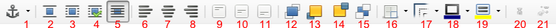 Pasek narzędziowy Ramka programu Writer pakietu LibreOffice