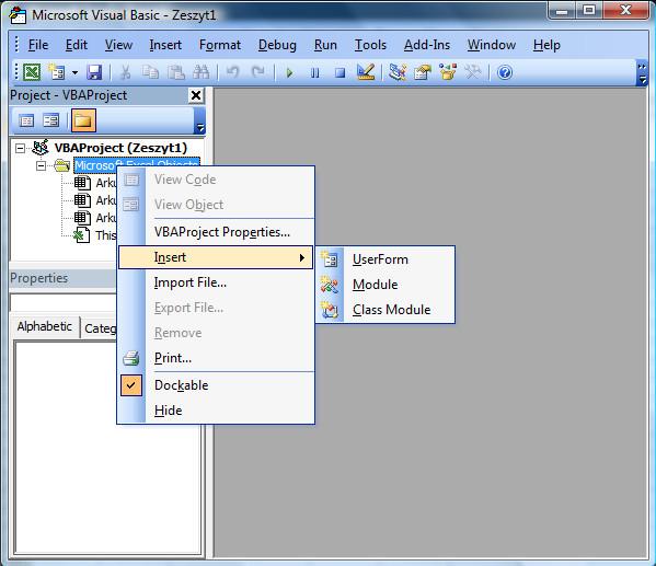 Microsoft Visual Basic dostępny w pakiecie oprogramowania MS Office
