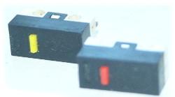 Dwa przyciski monostabilne wyciągnięte z myszki optycznej