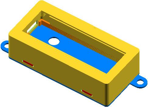 OpenSCAD - projekt obudowy wyświetlacza LCD z interfejsem I2C