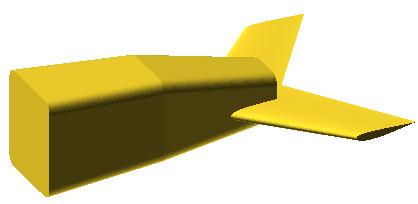 OpenSCAD - przykład brył utworzonych przez połączenie dwóch figur płaskich