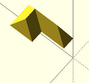 OpenSCAD przykład użycia funkcji scale
