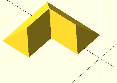 OpenSCAD przykład użycia funkcji translate do  przemieszczenia obiektu rysowanego