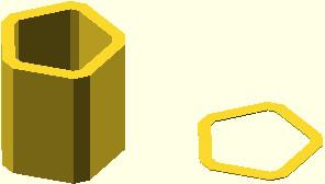 OpenSCAD - przykład wykorzystania funkcji offset z parametrem r