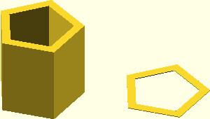 OpenSCAD - przykład wykorzystania funkcji offset z parametrem delta