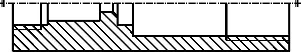 Przykład półprzekroju (tego typu przekroi się nie oznacza).