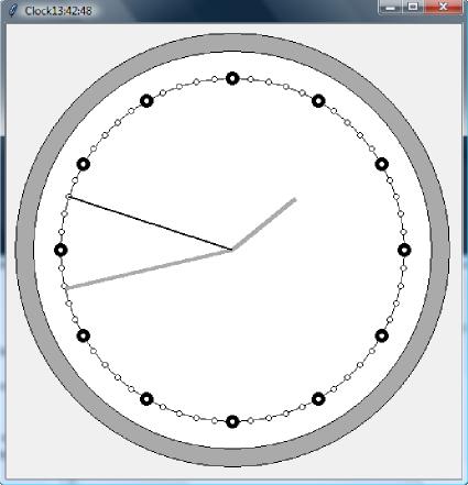 Screen programu Zegar napisanego w Pythonie 3+