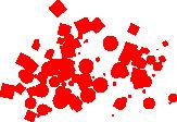 Przykład działania narzędzia natryskiwania w programie Inkscape