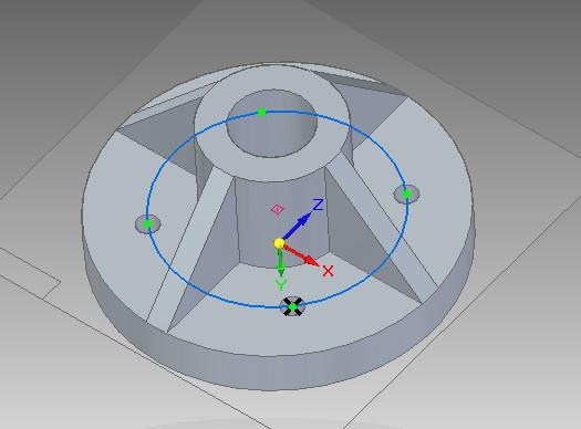 Solid Edge - efekt działania szyku kołowego