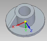 Solid Edge - przykładowy obiekt, którego wspornik zostanie poddany odbiciu lustrzanemu