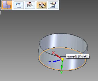 Solid Edge - rozwijanie części blaszanej tryb wskazania krawędzi bazowej