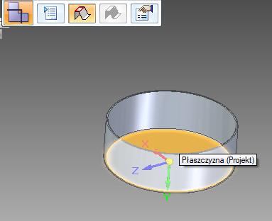 Solid Edge - rozwinięcie części blaszanej - tryb wskazania płaszczyzny bazowej