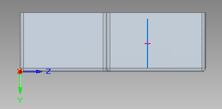Solid Edge - szkic dla elementu żebra
