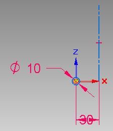 Solid Edge - szkic do wyciągnięcia śrubowego