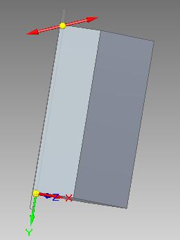 Solid Edge - widok wskazania kierunku pochylenia płaszczyzny