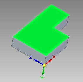 Solid Edge - wskazanie płaszczyzny otwarcia bryły cienkościennej