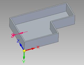 Solid Edge - wynik zakończenia operacji bryła cienkościenna