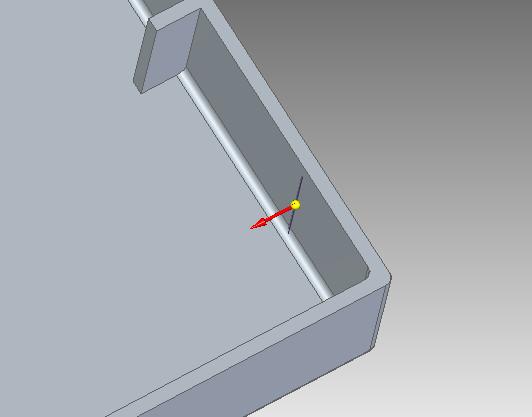 Solid Edge - tryb określenia kierunku wstawiania żebra