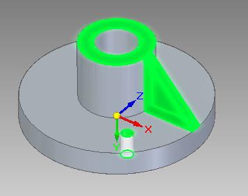 Solid Edge - wybór elementów do powielania szykiem kołowym