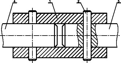Przykład sprzęgła sztywnego tulejowego kołkowego
