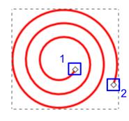 Tryb edycji spirali