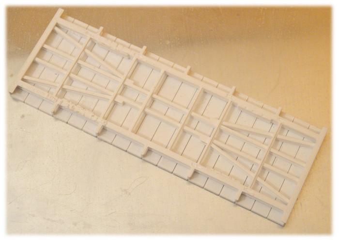 Wydrukowane na drukarce 3W podwozie wagonu kolejowego