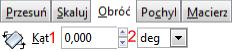 Widok zakładki Obróć okna Przekształć w programie Inkscape