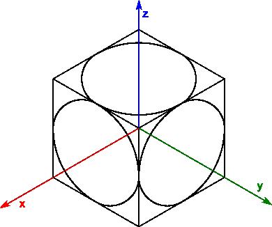 Rysunek końcowy sześcianu pozbawionego linii pomocniczych.