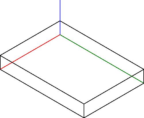 Rysunek pomocniczej konstrukcji prostopadłościanu, w który wpisana zostanie podstawa obiektu z <b>rysunku 5</b>.