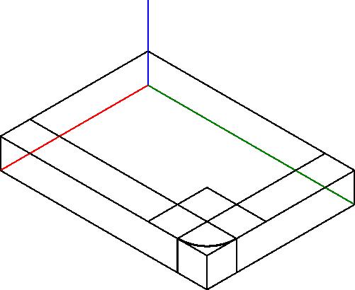 Kreślenie pomocniczych linii konstrukcji wyznaczającej łuk krawędzi rysowanego obiektu.