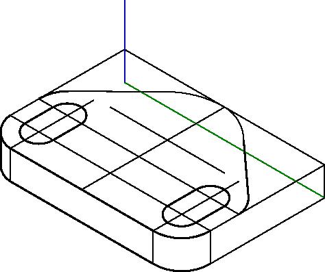 Usunięcie zbędnych linii i pogrubienie niektórych krawędzi przedmiotu.