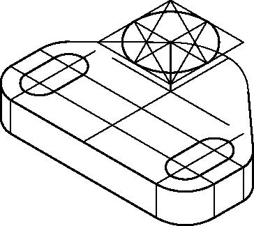 Wykreślenie górnej krawędzi walcowej powierzchni zewnętrznej.