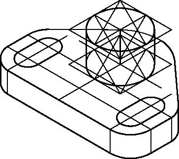 Wykreślenie dolnej krawędzi walcowej powierzchni zewnętrznej.