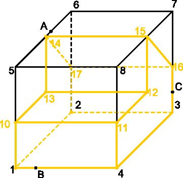 Ilustracja początkowa do zadania z aksonometrii