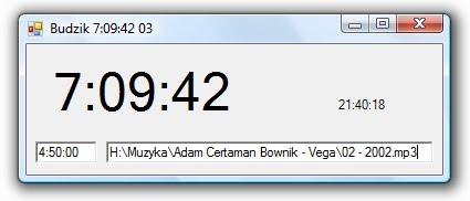 Program budzik napisany w VBA