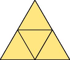 Rozwinięcie siatki czworościanu foremnego - wersja 1