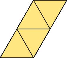 Rozwinięcie siatki czworościanu foremnego - wersja 2