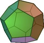 Ilustracja dwunastościanu foremnego (dodekaedr-u)