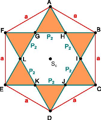 Hexagram wpisany w sześciokąt foremny