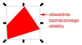 Przykładowa obwiednia obiektu wyświetlana po jego zaznaczeniu w programie Inkscape
